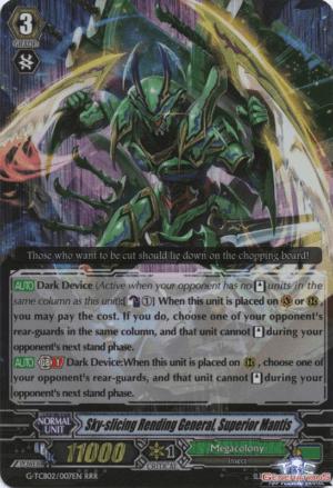 Sky-slicing Rending General, Superior Mantis