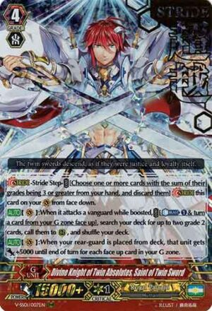Divine Knight of Twin Absolutes, Saint of Twin Sword V-SS01/007EN Stamp