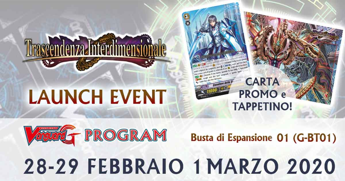 Launch Event G-BT01 Trascendenza Interdimensionale